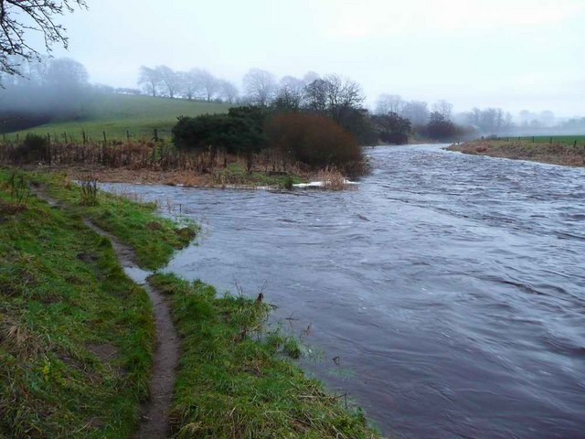 Confluence of the River Avon and the Kype Water