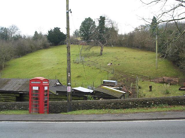 Phone box at Hollybush
