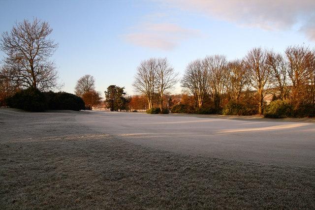 Frosted green, Haddington Golf Course