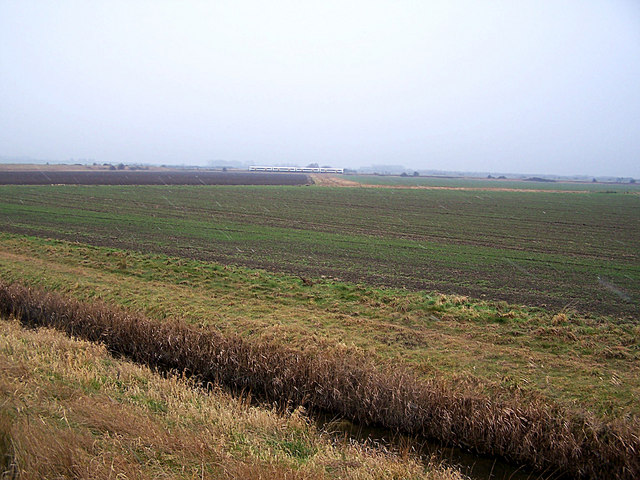 Looking south from the Rushbourne Sea Wall