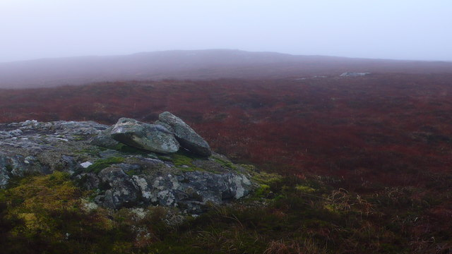 Twin rocks on hillside