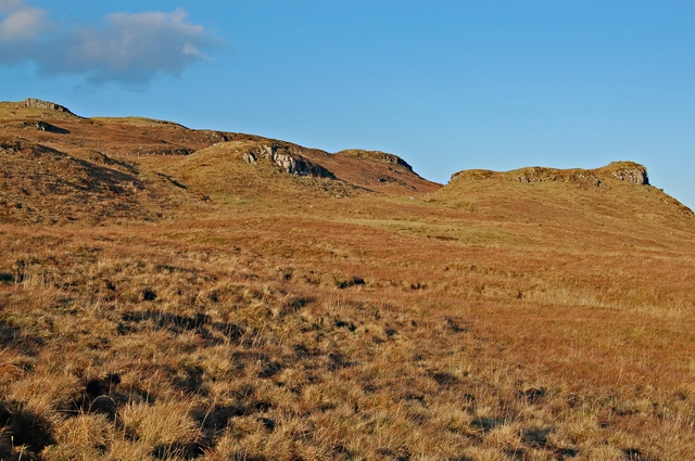 Crags east of Ben Roishader