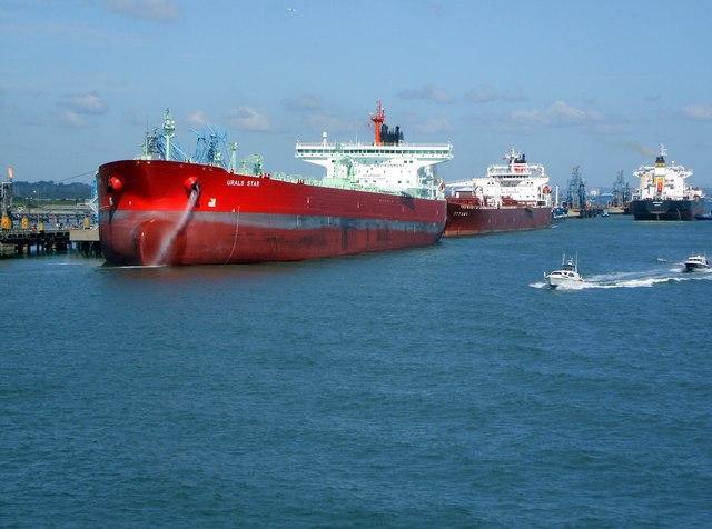 Oil Tankers at Marine Terminal
