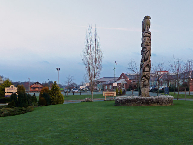 Totem pole at Moreton Park Garden Centre
