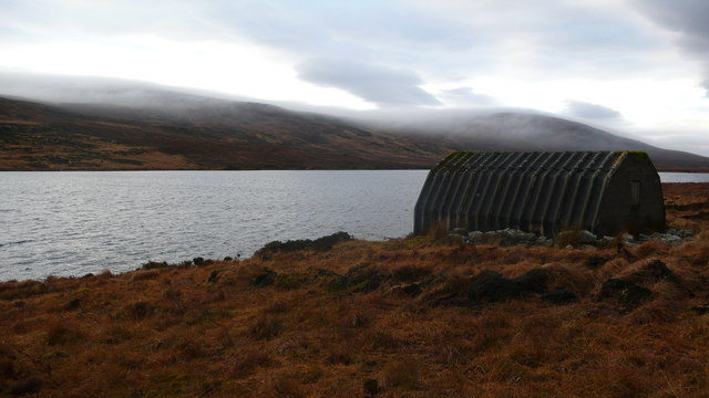 Boat shed on Loch an Gaineimh