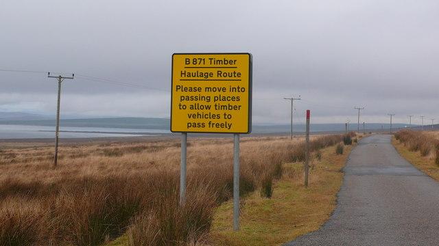 Road Sign warning of timber trucks
