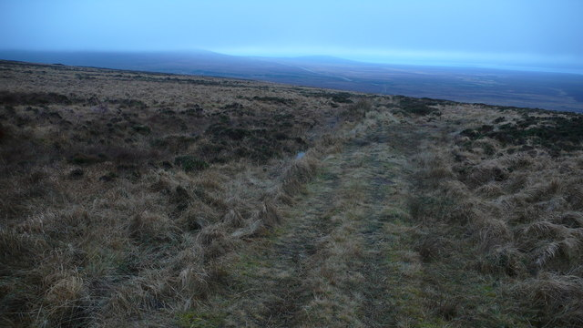 Footpath to the Griam hill lochs