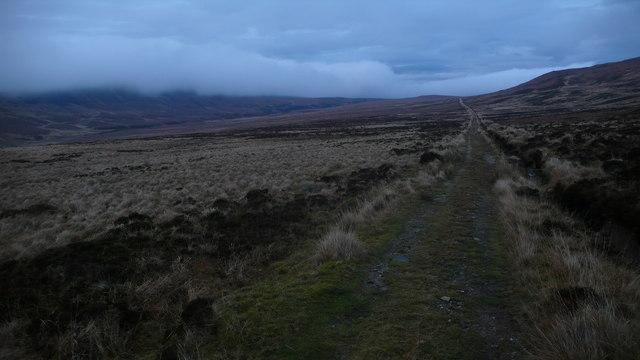 Footpath across the hillside