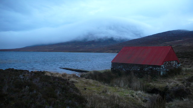 Boat house on Loch Coire nam Mang