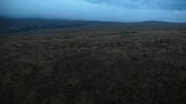 Rough moorland looking NW