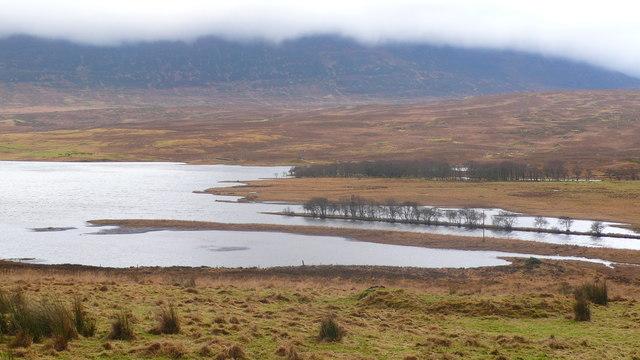 River Mugdale entering Loch Naver