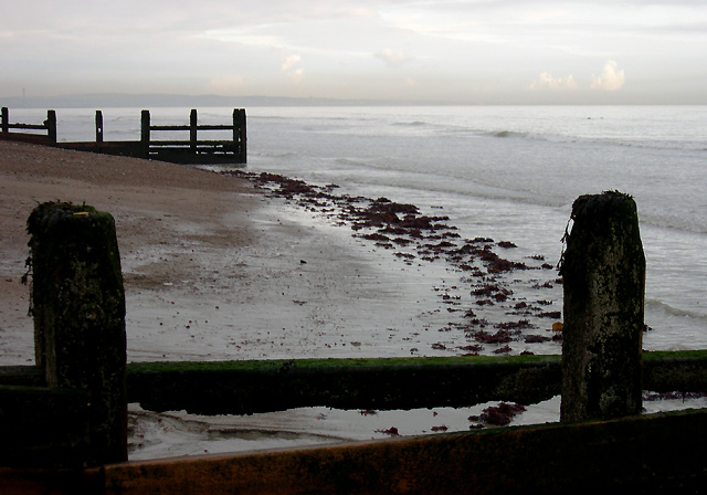 Sandy Shore with Groynes, Worthing, West Sussex