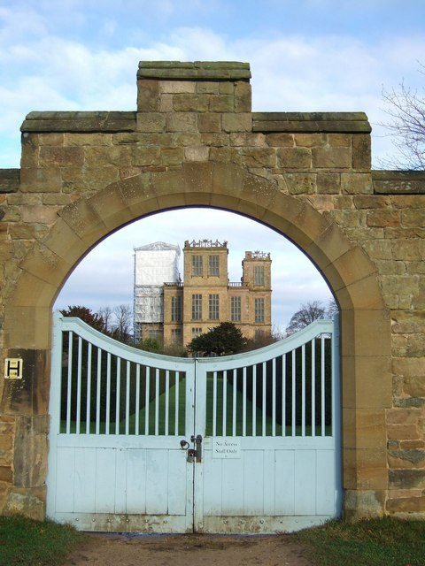 Gateway to Hardwick Hall from the stableyard square