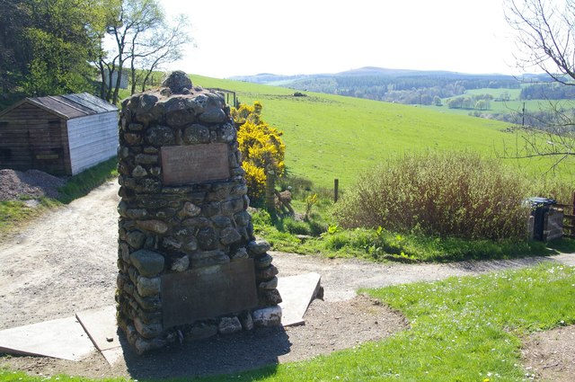 Memorial Cairn at the foot of Glen Prosen, Angus