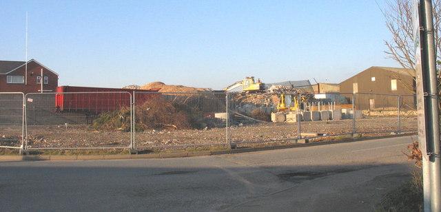Construction site east of Lon Ty Newydd, Cibyn Industrial Estate