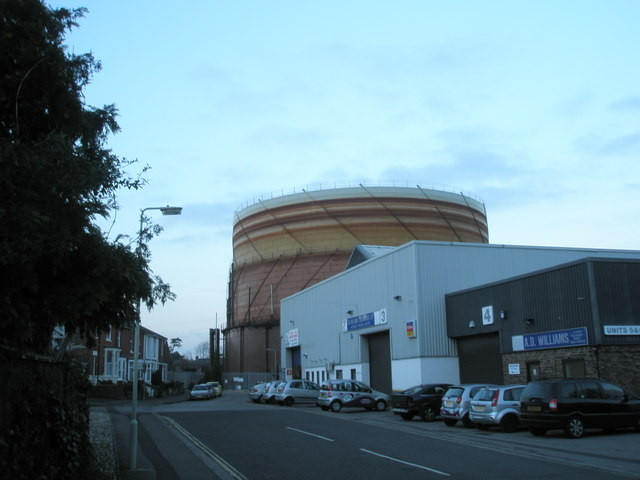 Emsworth Gasometer as seen from Palmers Road