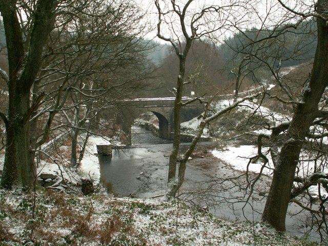 Looking east to Brookhouse Bridge