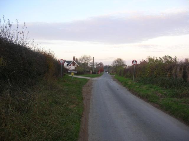 Entering Scrayingham