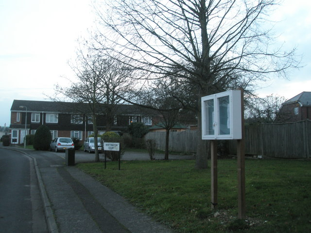 Noticeboard at Whittington Court