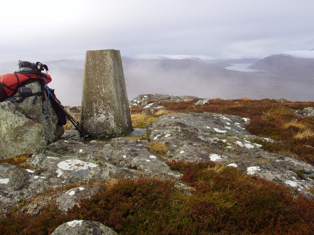 Trig Point of Carn na Dubh Choille