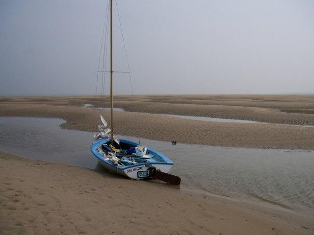 Exploring the Dee estuary at low water