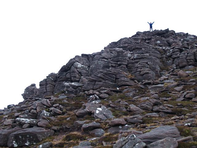 Small crag, SE ridge of Sail Mhor