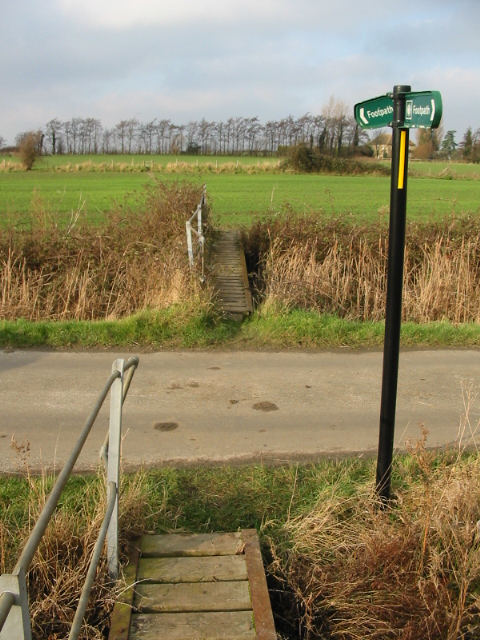 Footbridge , road, footbridge