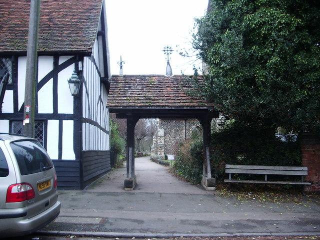 St  Mary's Church, Churchgate Street, Harlow, Lychgate