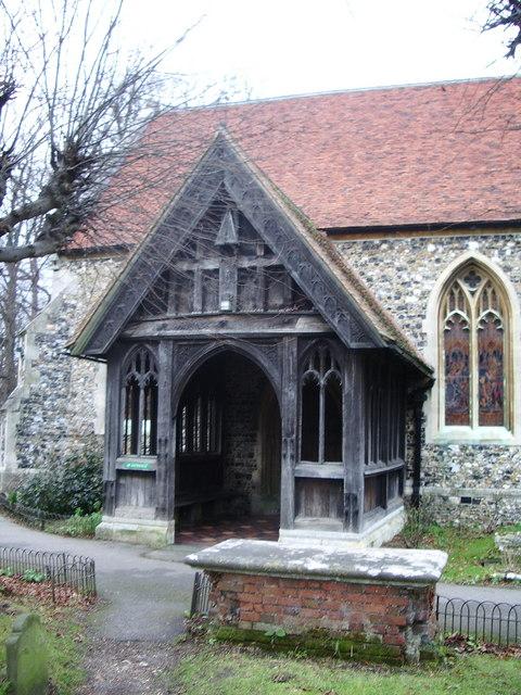 St  Mary's Church, Churchgate Street, Harlow, Porch