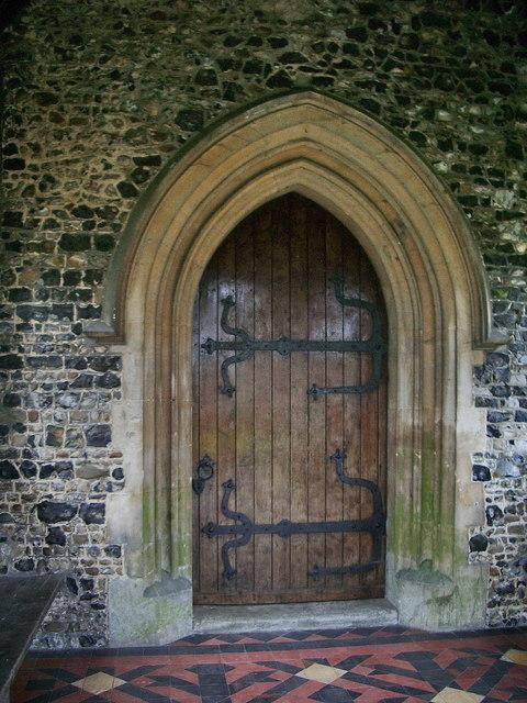 St  Mary's Church, Churchgate Street, Harlow, Doorway