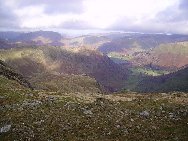 Descending Dove Crag