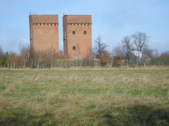The twin water towers at Blackmore Park