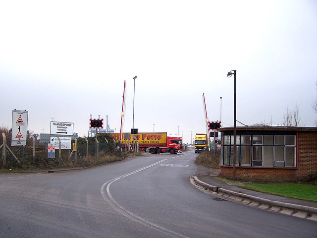 Entrance to Thamesport
