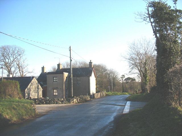 The B4415 at Llwyn Beuno
