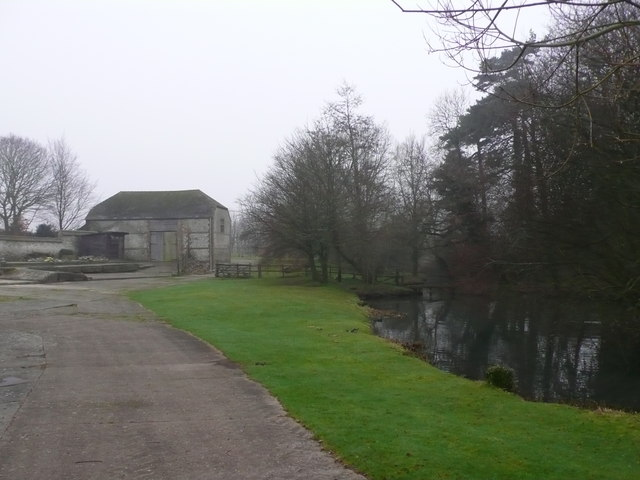 Barn and Pond at Holcombe dairy