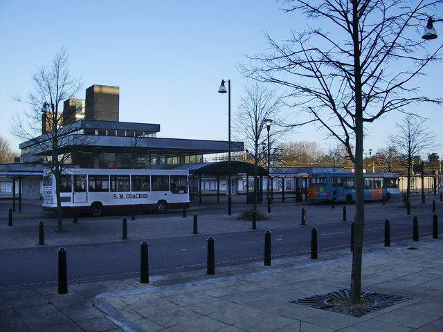 Bus terminus at Harlow Town Railway Station