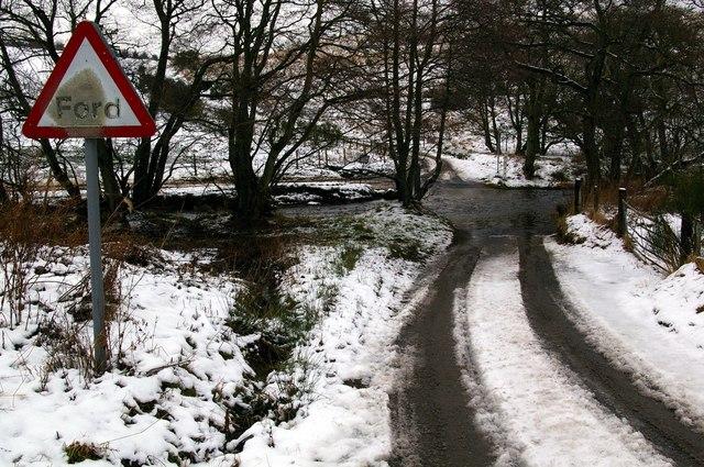 Ford at Kinwhirrie, near Kirriemuir