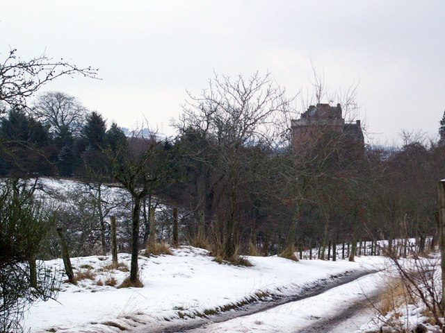 A rather secluded Inverquharity Castle, near Kirriemuir