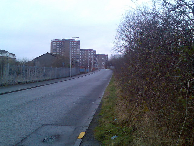 Dalmuir flats from Park Road