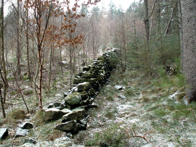 An old dry stone wall