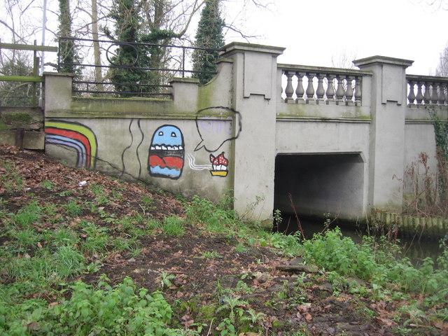 Graffiti on Fen Causeway bridge