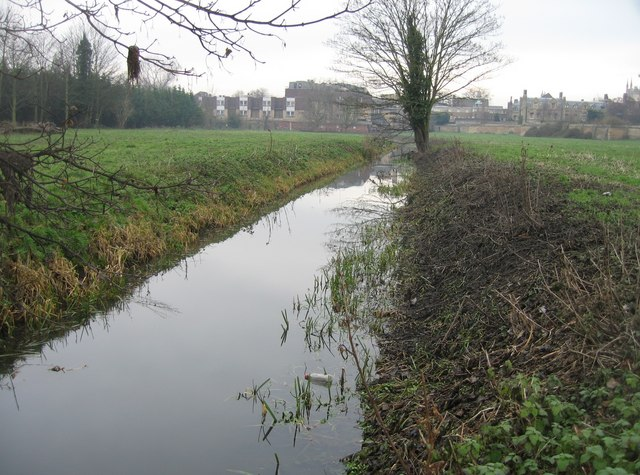 Cleared drainage ditch