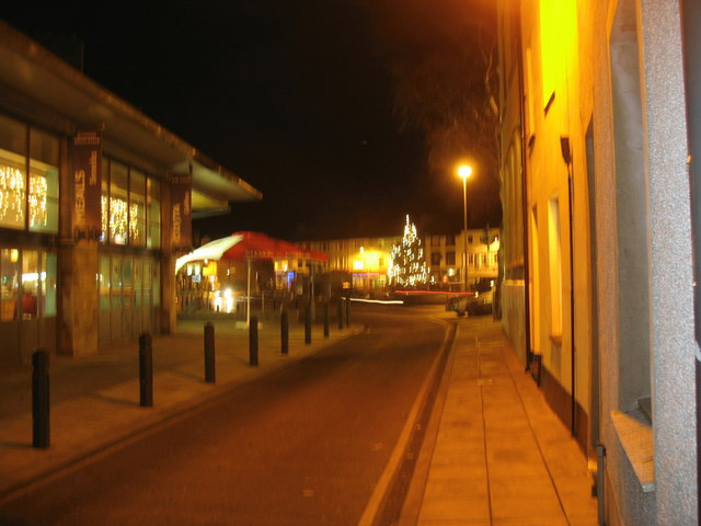 Y Maes (The Square) from Segontium Terrace
