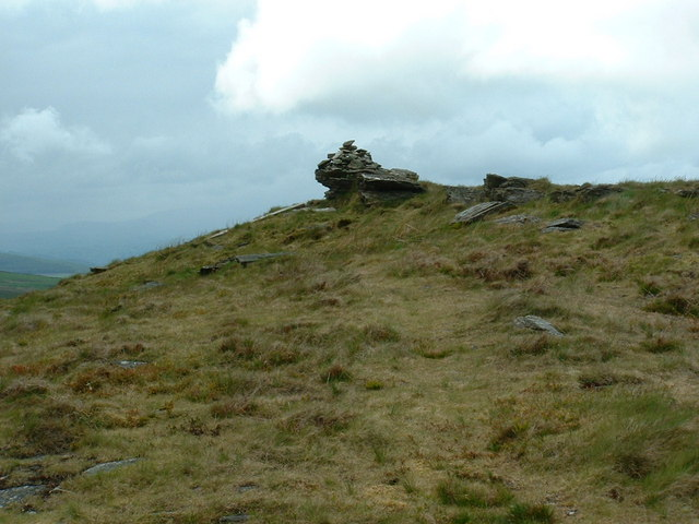 Close up of cairn on un-named 621 m height
