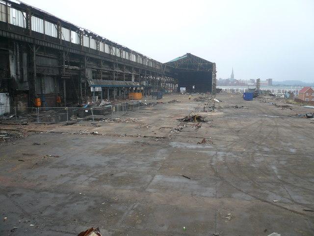 Demolition of the Tube Works