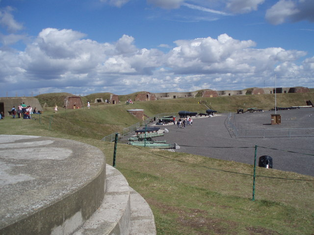 Looking down onto the parade ground at Fort Nelson