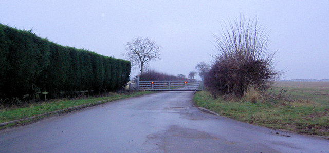 Sturdy gates on private road to Upper Morton