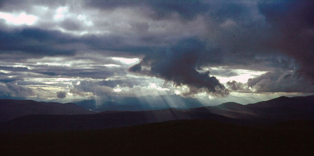 Sunray view from Ben-a-Bhuird