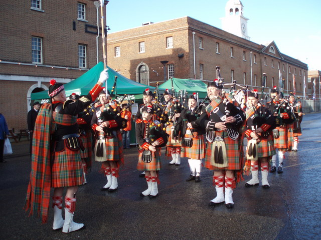 Pipe Band at Dockyard Christmas Celebrations
