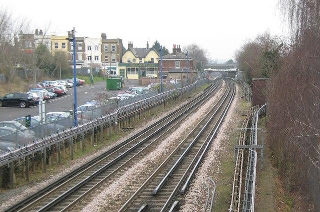 Central Line railway in Buckhurst Hill